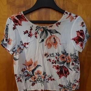 Abercrombie & Fitch Floral Tie back top